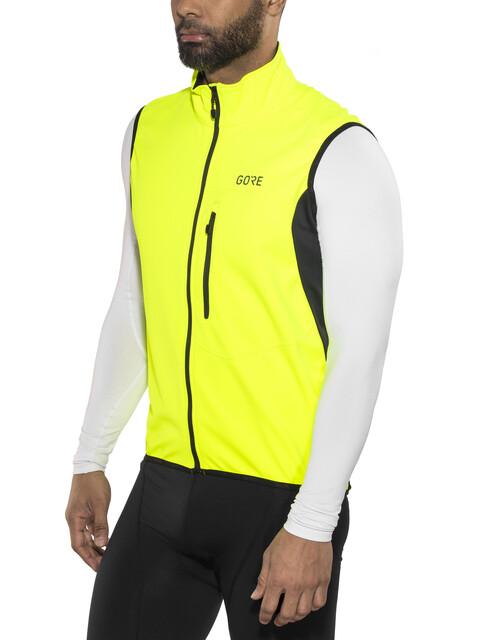 GORE WEAR C3 Windstopper Vest Men neon yellow/black
